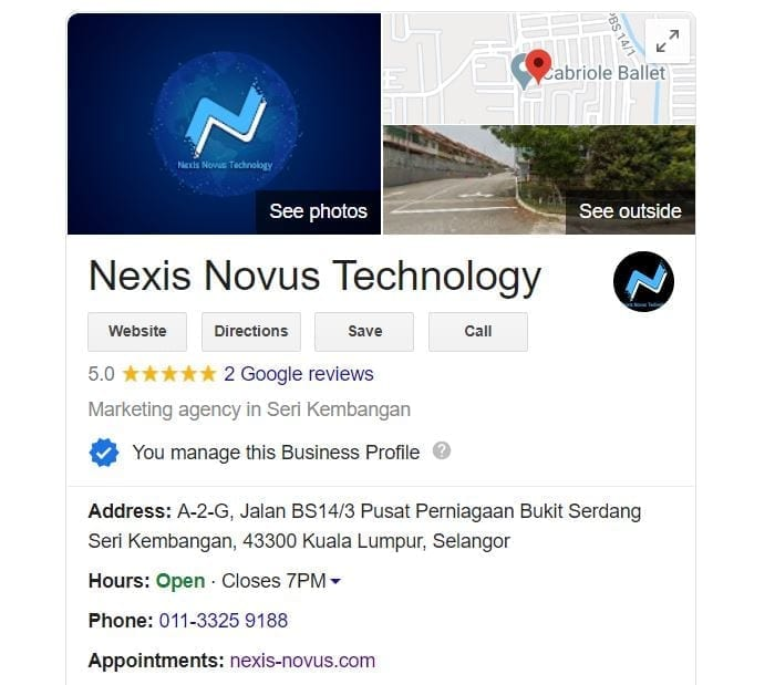 Local SEO - Google My Business by Nexis Novus Technology