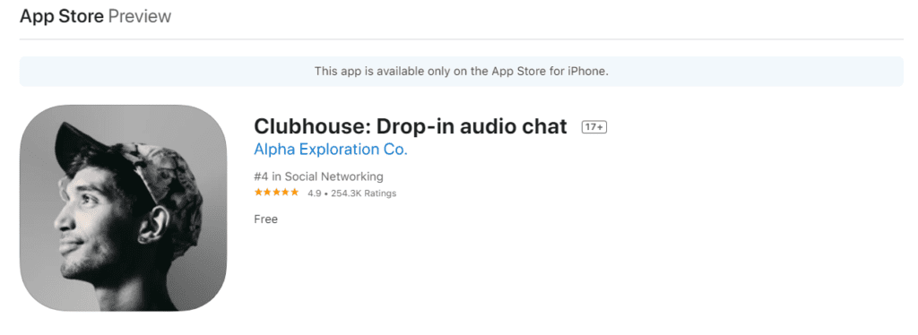 clubhouse ios app invitation only